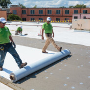 GenFlex EZ TPO Peel & Stick™ membrane makes for safe and speedy installation